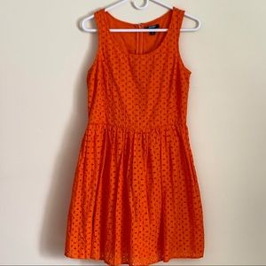 Old Navy sleeveless eyelet fit and flare dress.